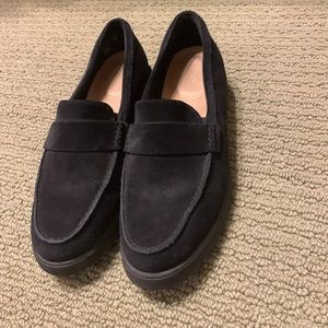Super cute, barely worn suede loafers